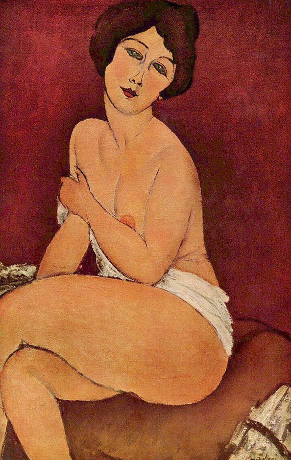 画像_アメデオ・モディリアーニ「安楽椅子の上の裸婦」
