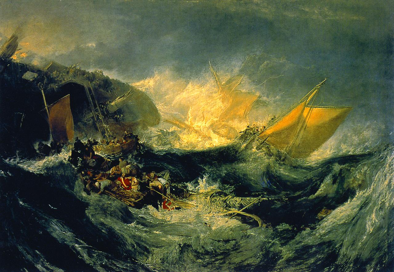 画像_ウィリアム・ターナー「ミノタウロス号の難破」