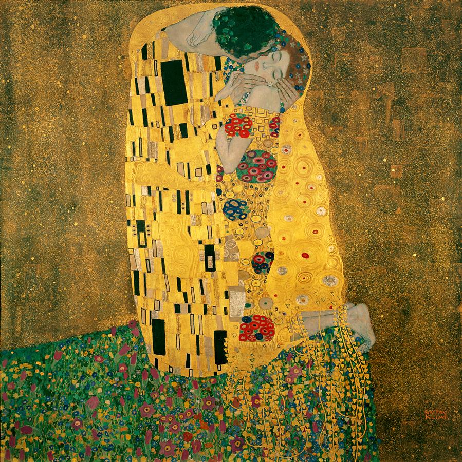 画像_グスタフ・クリムト「接吻」