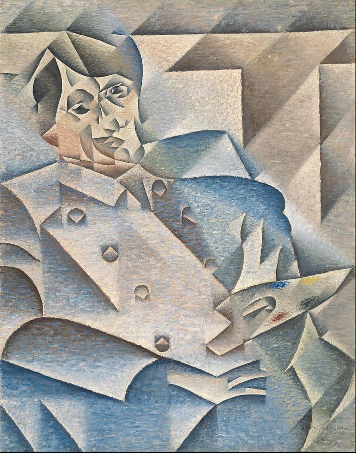 画像_フアン・グリス「ピカソの肖像」
