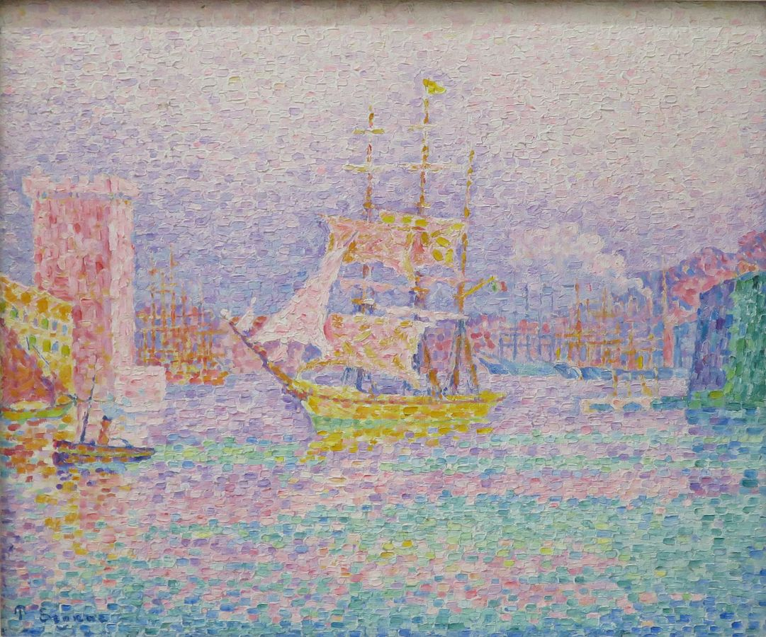 画像_ポール・シニャック「マルセイユの港」