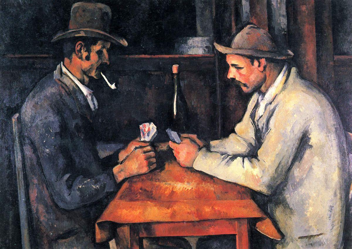 画像_ポール・セザンヌ「カード遊びをする人々」
