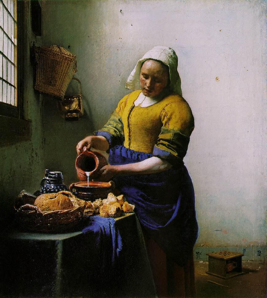画像_ヨハネス・フェルメール「牛乳を注ぐ女」