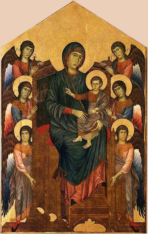 画像_チマブーエ「サンタ・トリニタの聖母」