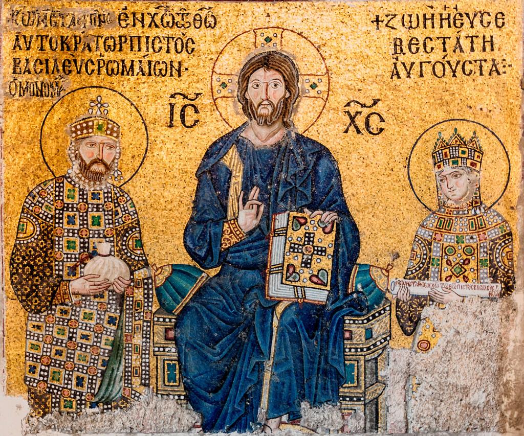 画像_キリストと11世紀の皇帝コンスタンティノス9世夫妻