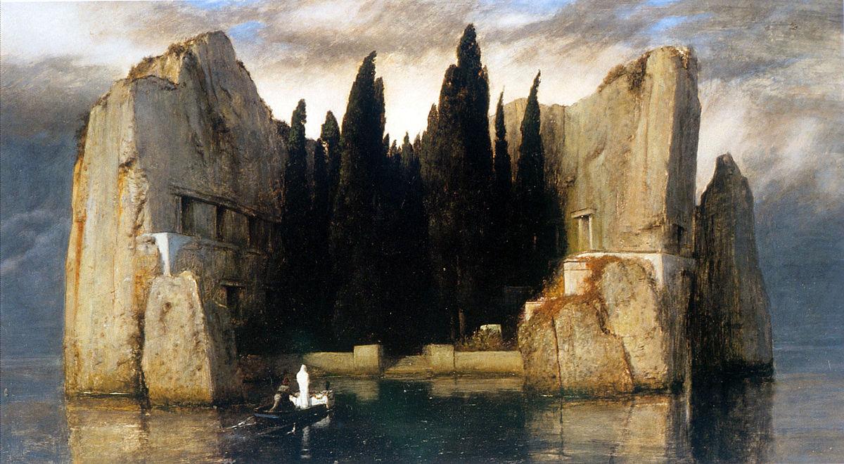 画像_アルノルト・ベックリン「死の島」